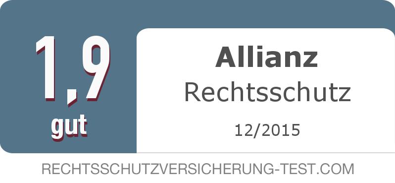 Testsiegel: Allianz Rechtsschutz width=