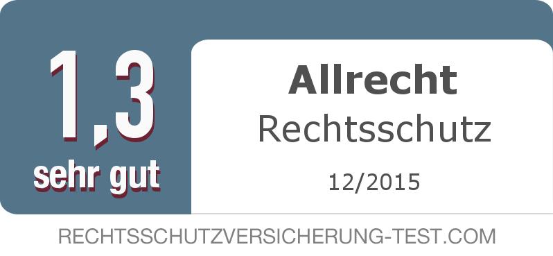 Testsiegel: Allrecht Rechtsschutz width=