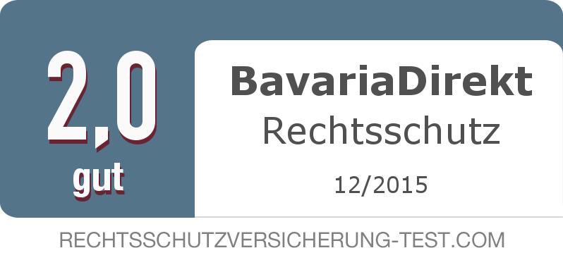 Testsiegel: BavariaDirekt Rechtsschutz width=