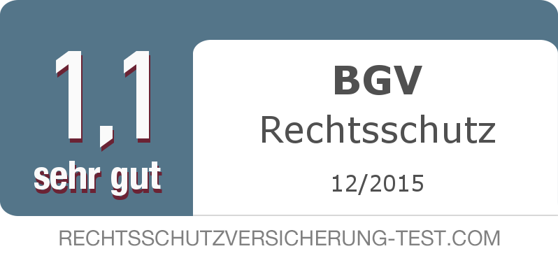 Testsiegel: BGV Rechtsschutz width=