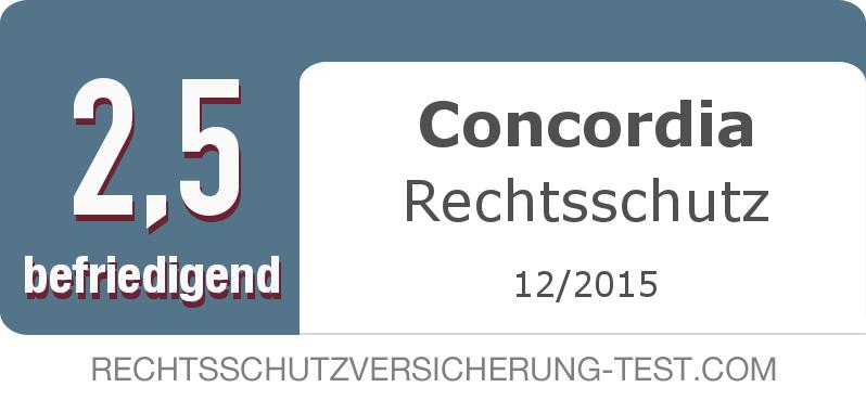 Testsiegel: Concordia Rechtsschutz width=