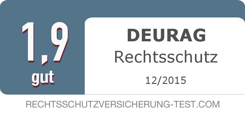 Testsiegel: DEURAG Rechtsschutz width=