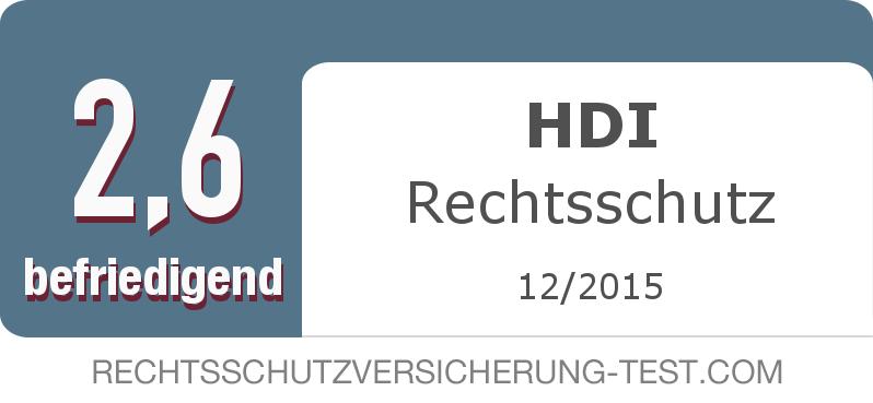 Testsiegel: HDI Rechtsschutz width=