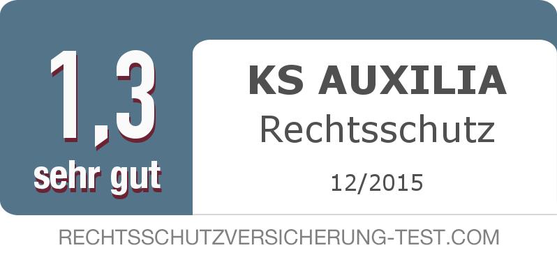 Testsiegel: KS AUXILIA Rechtsschutz width=