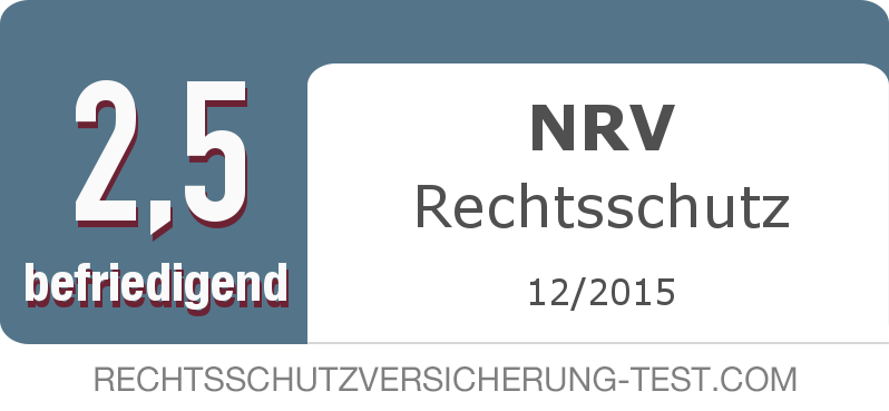 Testsiegel: NRV Rechtsschutz width=