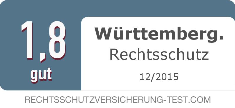 Testsiegel: Württemberg. Rechtsschutz width=