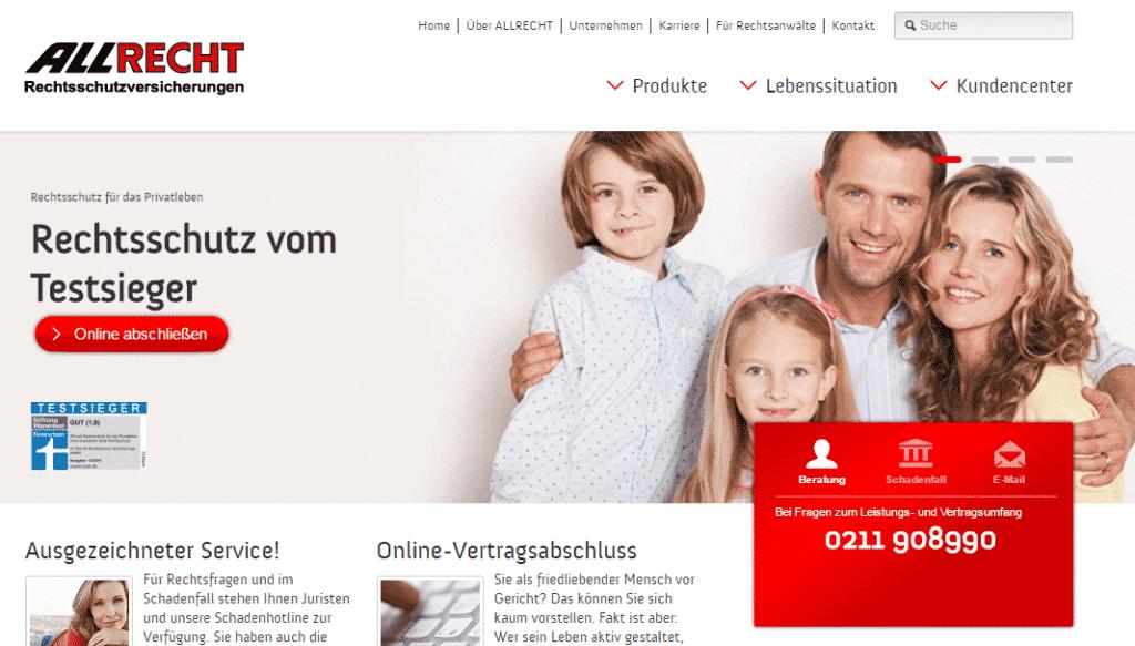 Die Webseite der Allrecht