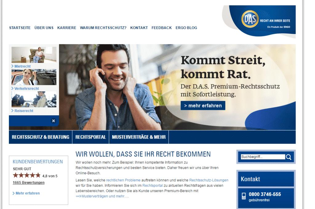 Die Webseite der D.A.S.