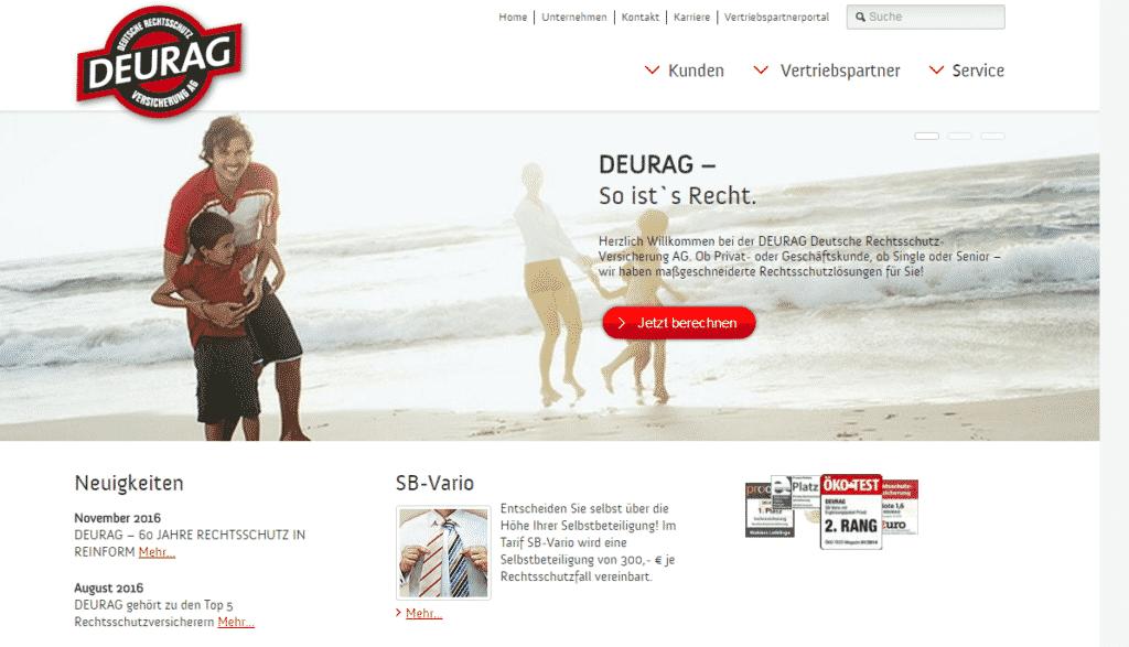 Die Webseite der DEURAG