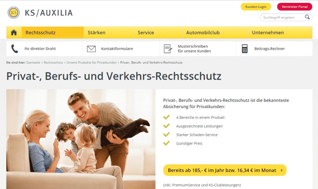Die Webseite der KS / Auxilia